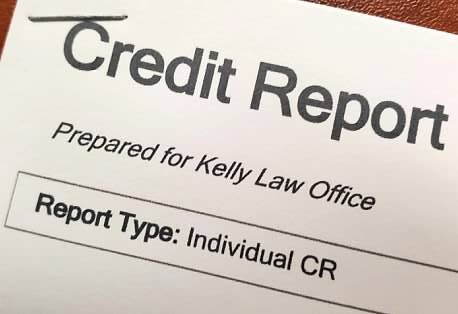 Credit report obtained by lawyer